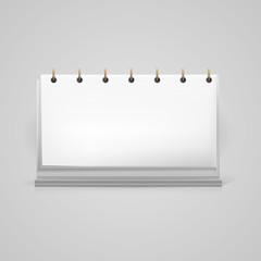 Illustration of blank desk calendar mock-up