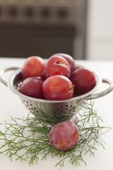 Plums in the kitchen