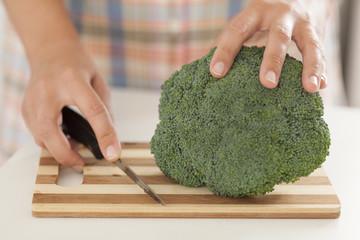 Broccoli in kitchen