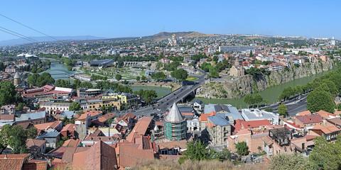 Panorama of Tbilisi, Georgia