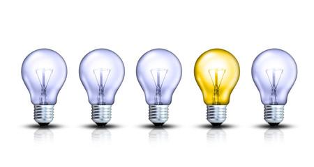 Lampen in einer Reihe