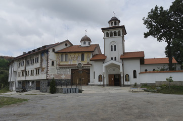View a main entrance of monastery Saint Petka, Bulgaria