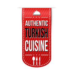 Authentic turkish cuisine banner design