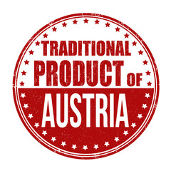 Traditional product of Austria stamp