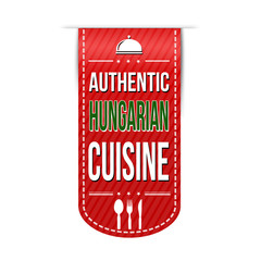 Authentic hungarian cuisine banner design