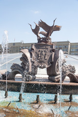 Exterior of fountain on Independance Square, Minsk