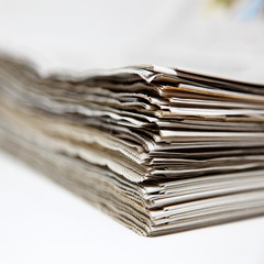 Nahaufnahme von Zeitungen