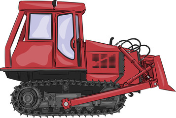 vector caterpillar tractor