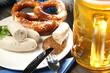 canvas print picture - Bayrisches Weißwurstfrühstück