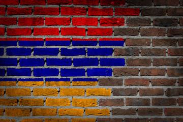 Dark brick wall - Armenia