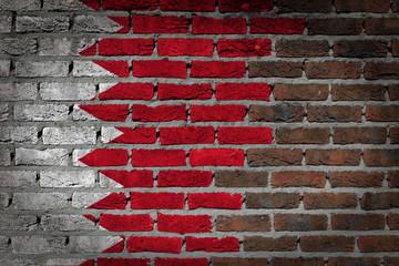 Dark brick wall - Bahrain