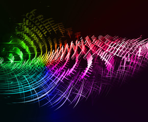 Abstract colorful wave form background. Futuristic concept.