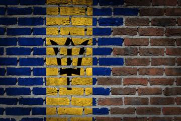 Dark brick wall - Barbados