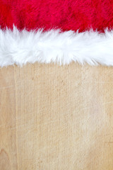 Christmas abstract food background with santa claus hat