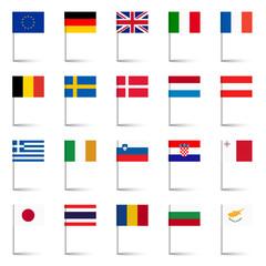 Länderflaggen - Stecknadeln Set 02