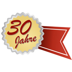 Jubilee button german - Jubiläum 30 Jahre