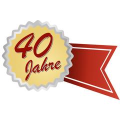 Jubilee button german - Jubiläum 40 Jahre