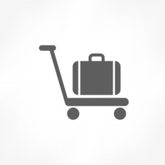 baggage on cart icon