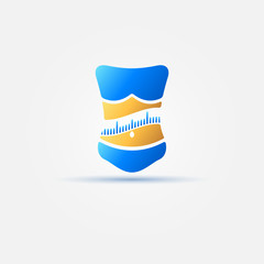 Weight loss bright icon