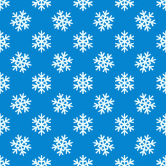 White snowflakes vector seamless pattern