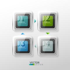 Vector colorful design elements