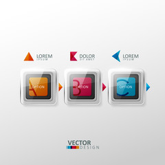 Vector colorful design elements