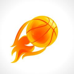 Basketball flame logo