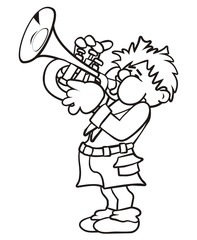 Trumpeter, coloring book