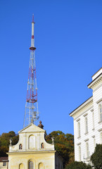television tower at center of old city