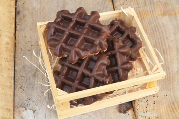 gaufres liégeoise au chocolat