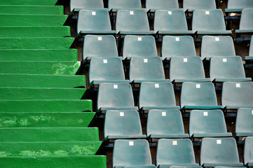 Sports arena seats