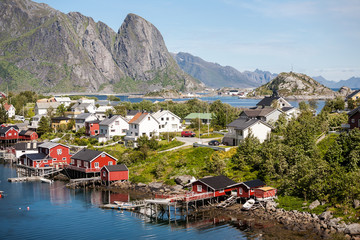View on Lofoten islands.