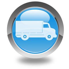camion de livraison sur bouton