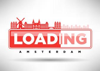 Amsterdam Skyline Loading Typographic Design