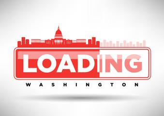 Washington D.C. Skyline Loading Typographic Design