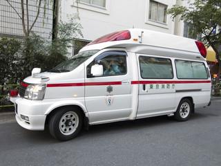 待機中の救急車