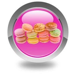 macarons sur bouton