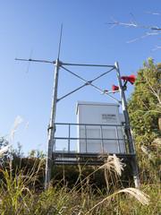 ダム緊急放水の警報装置