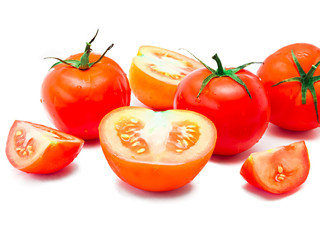 Red Tomatoes and slices