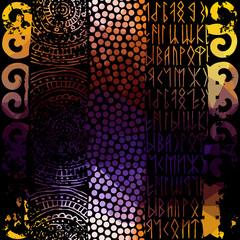 Grunge ethnic pattern.