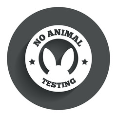 No animals testing sign icon. Not tested symbol