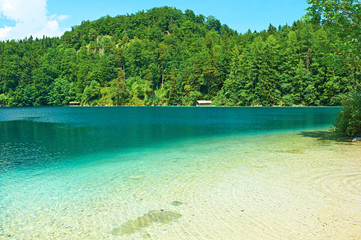 Alpsee lake at Hohenschwangau near Munich in Bavaria