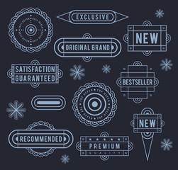 Unique retro labels. EPS8.