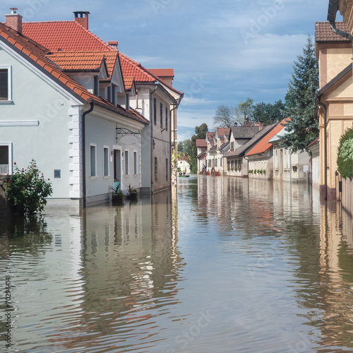 Flooded street - 70294414
