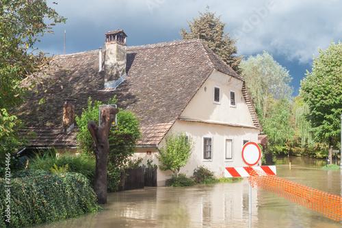 Flooded street - 70294466