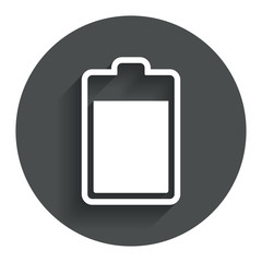 Battery level sign icon. Electricity symbol.