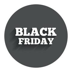 Black friday sign icon. Sale symbol.