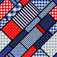 Retro blue pattern.