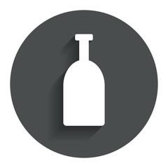 Alcohol sign icon. Drink symbol. Bottle.