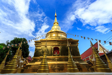Wat Phra Sing temple in Chiang Rai, Thailand